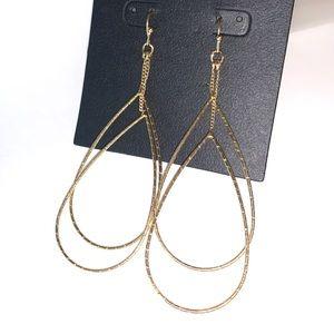 ⭐️2/$12! Gold-tone double teardrop EARRINGS